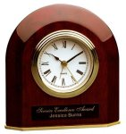 Piano Finish Rosewood Beveled Arch Clock Arch Awards