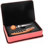 Leatherette 2 Piece Wine Tool Set -Pink Wine Gifts